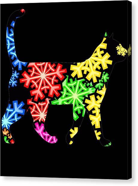 Ocicats Canvas Print - Cat Showflake Rainbow by Kaylin Watchorn