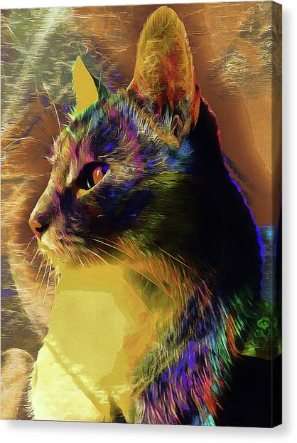Cat Spirit Guide Canvas Print