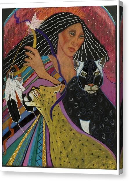 Cat Woman From Palenque Canvas Print