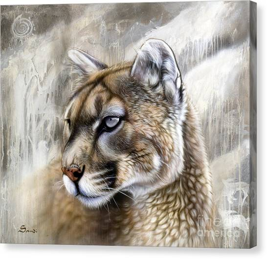Lions Canvas Print - Catamount by Sandi Baker