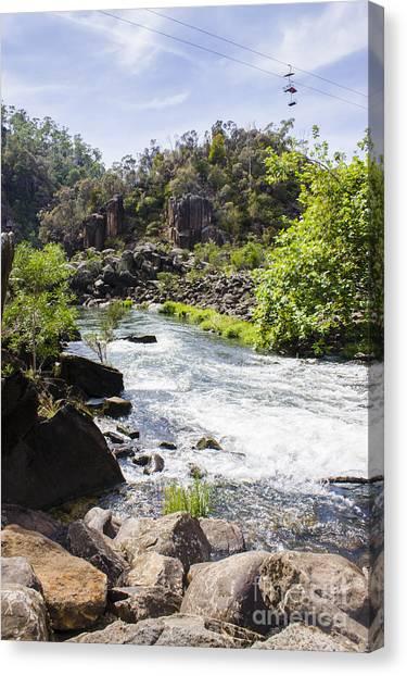 Cataract Canvas Print - Cataract George Landscape In Launceston Tasmania by Jorgo Photography - Wall Art Gallery