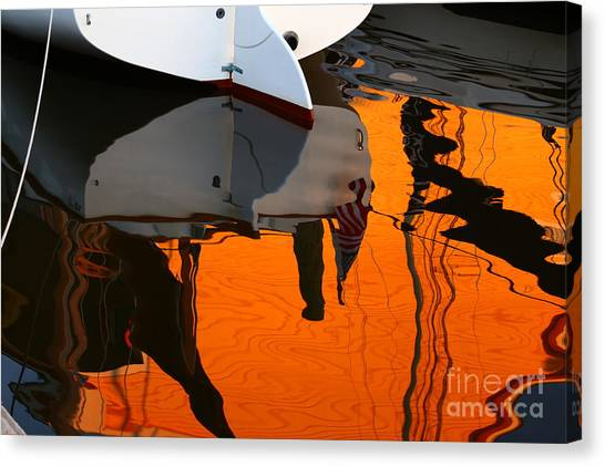 Catboat Reflection Canvas Print