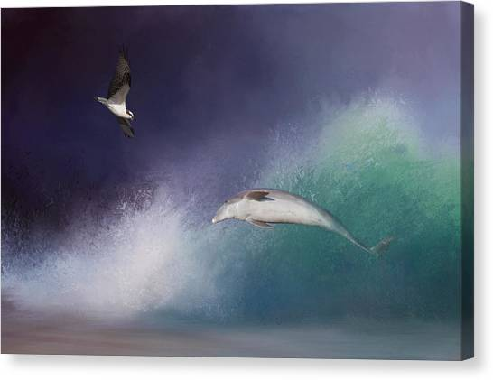 Osprey Canvas Print - Catch A Wave by Kim Hojnacki