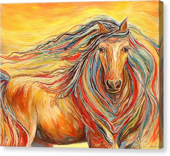 Catch Me If You Can Canvas Print by Rebecca Robinson