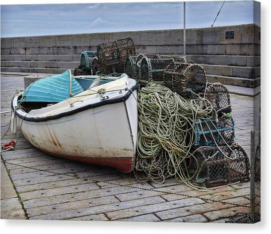 Catch Of The Day At Donaghadee Harbour Canvas Print