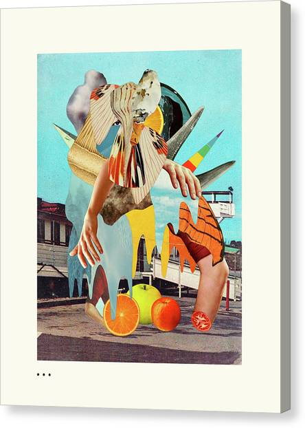 Surrealism Canvas Print - Catch Of The Day by Jazzberry Blue
