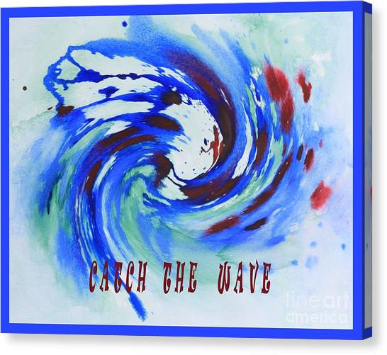 Catch The Wave Canvas Print