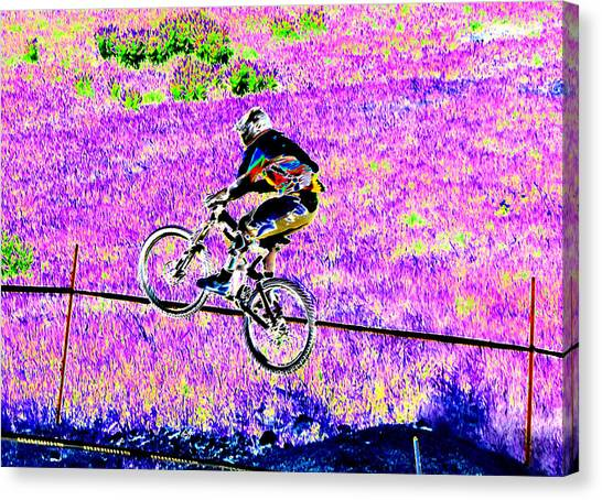 Catching Air Canvas Print by Peter  McIntosh