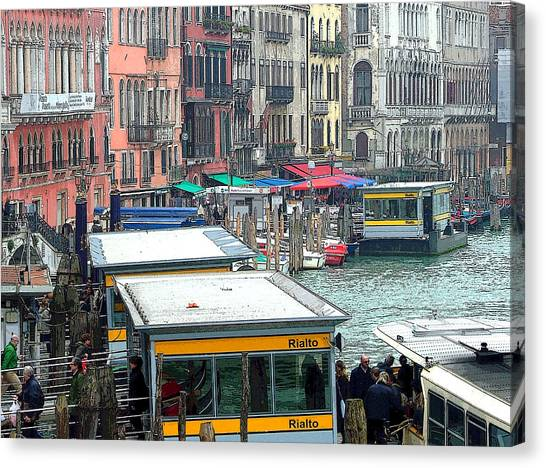 Rennaissance Art Canvas Print - Catching The Ferry In Venice by Mindy Newman