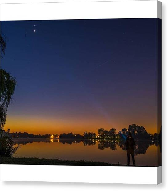Jupiter Canvas Print - Catching Venus #stars #skyporn by Francesco Russo