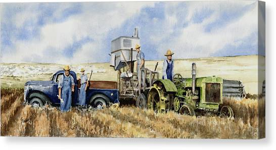 John Deere Canvas Print - Catesby Cuttin' 1938 by Sam Sidders