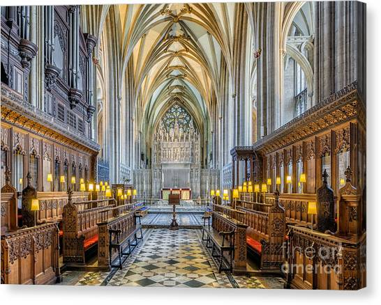 Cathedral Aisle Canvas Print