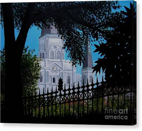 Cathedral At The Square Canvas Print