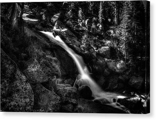 Cathedral Falls From The Tioga Pass Road Canvas Print