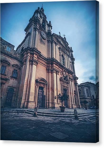 Cathedral Mdina Canvas Print