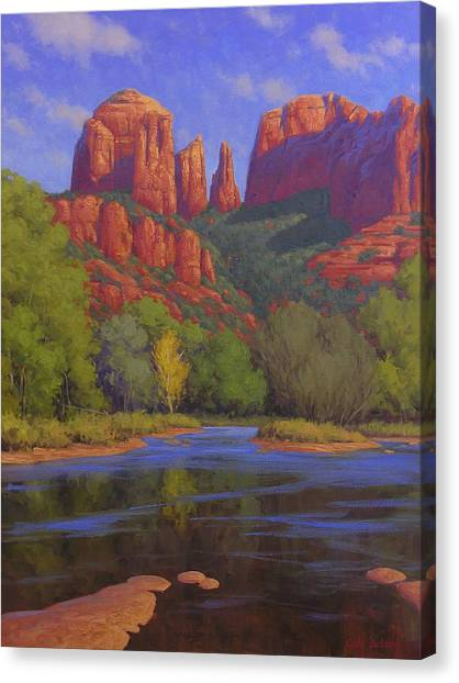 University Of Arizona Canvas Print - Cathedral Morning by Cody DeLong