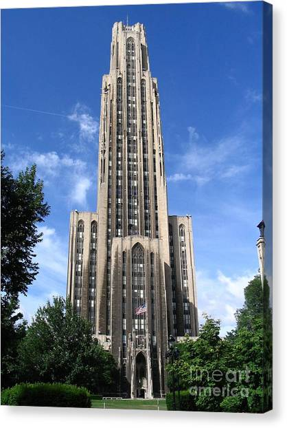 University Of Pittsburgh Canvas Print - Cathedral Of Learning by Spencer McKain