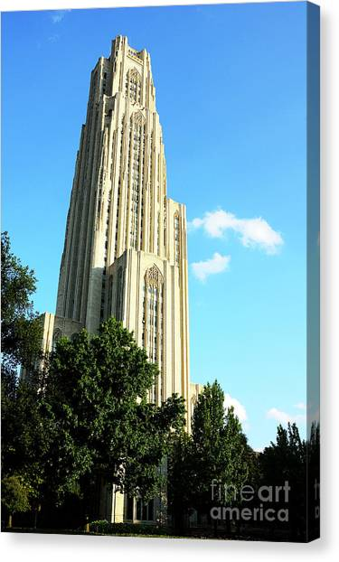 Oakland University Canvas Print - Cathedral Of Learning by Thomas R Fletcher