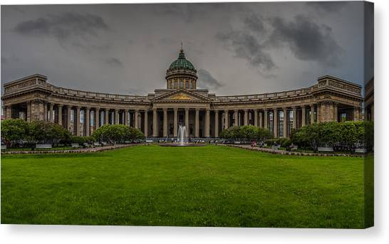 Sightseeing Canvas Print - Cathedral Of Our Lady Of Kazan by Capt Gerry Hare