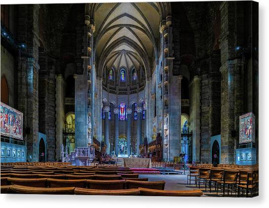Canvas Print featuring the photograph Cathedral Of Saint John The Divine by Chris Lord
