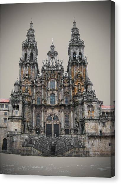 Baroque Art Canvas Print - Cathedral Of Santiago De Compostela by Jasna Buncic