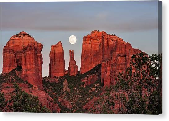 Cathedral Rock Canvas Print - Cathedral Of The Moon by Loree Johnson