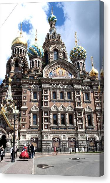 Cathedral Of The Spilled Blood C258 Canvas Print by Charles  Ridgway