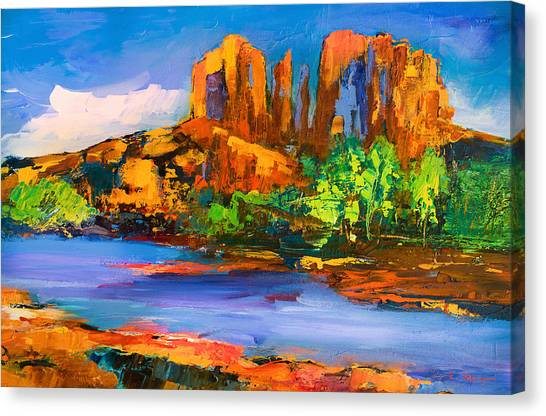 Fauvism Canvas Print - Cathedral Rock Afternoon by Elise Palmigiani