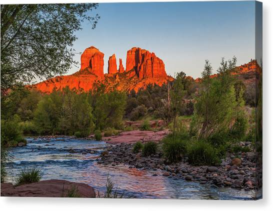 Cathedral Rock At Red Rock Crossing Canvas Print