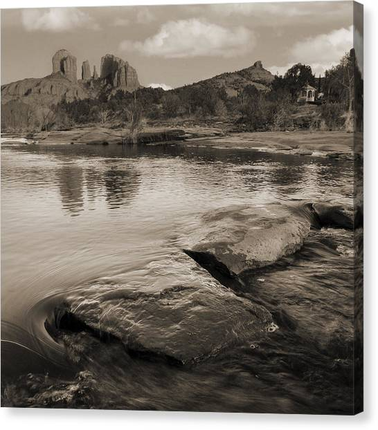 Cathedral Rock Flow Canvas Print by Bob Coates