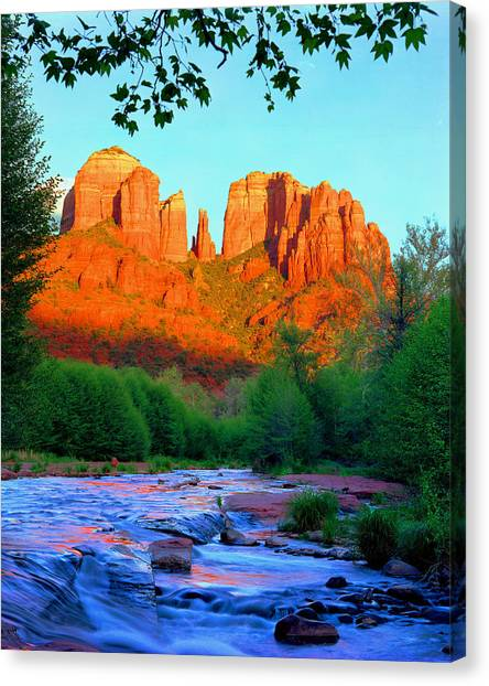 Cathedral Rock Canvas Print - Cathedral Rock by Frank Houck