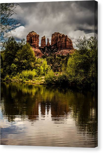 Cathedral Rock Reflections Canvas Print