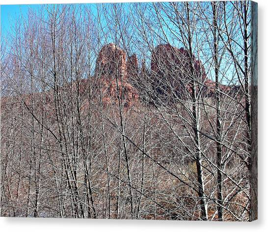 Cathedral Rock Screen Canvas Print by Gene Garrison