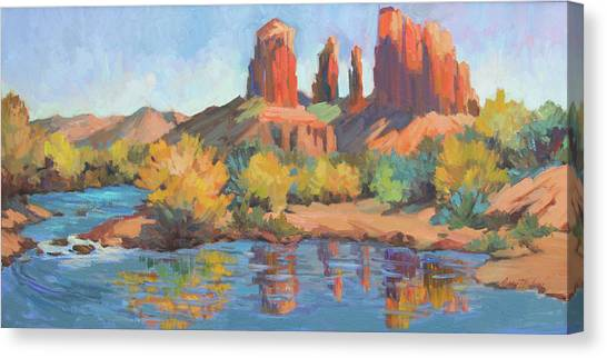 Moonrise Cathedral Rock Sedona Canvas Print