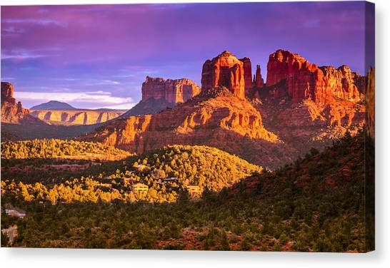 Cathedral Rock Canvas Print - Cathedral Rock Sunset by Alexey Stiop