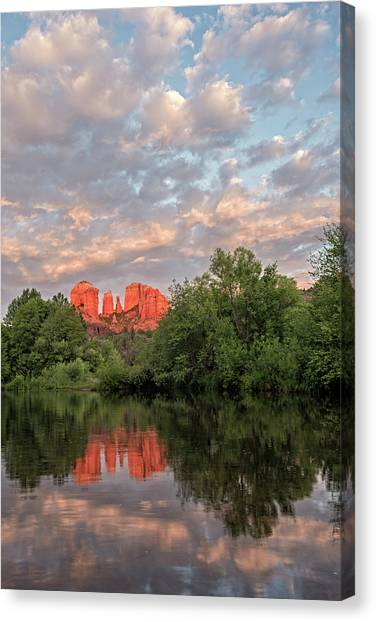 Cathedral Rock Canvas Print - Cathedral Rock Sunset by Loree Johnson