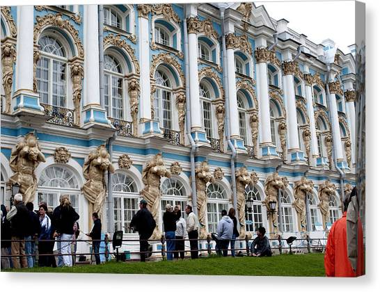 Catherine Palace C055 Canvas Print by Charles  Ridgway