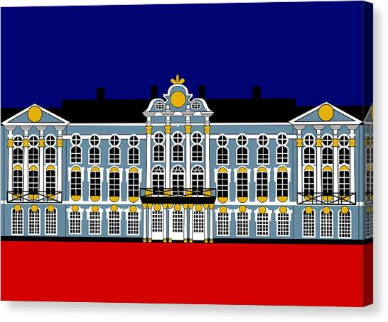 Catherines Palace Inspiration - Katharinenhof Inspiration St Petersburg Russia Canvas Print by Asbjorn Lonvig