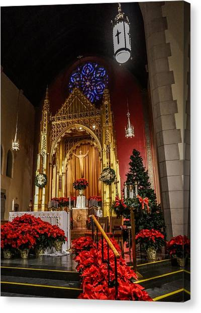 Catholic Christmas Canvas Print