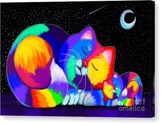 Canvas Print - Catnaps For Two by Nick Gustafson