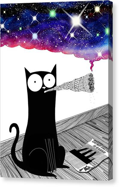 Whimsical Canvas Print - Catnip  by Andrew Hitchen