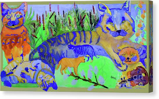 Cats And A Fiddle Canvas Print