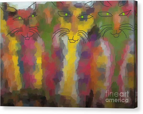 Cats Canvas Print by Don Phillips