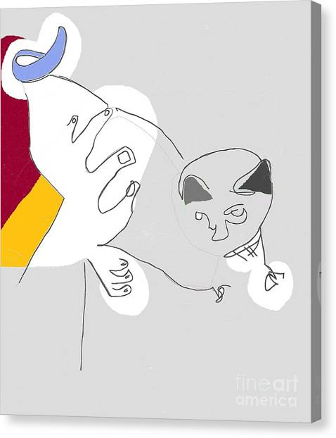Cat's Meow Canvas Print by Michael OKeefe
