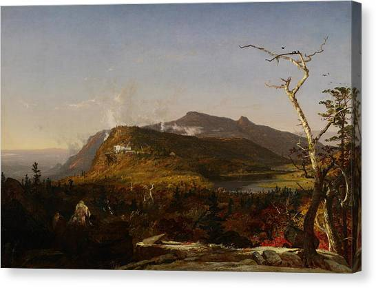 Cloud Forests Canvas Print - Catskill Mountain House by Jasper Francis Cropsey