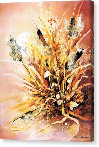 Cattails One Canvas Print
