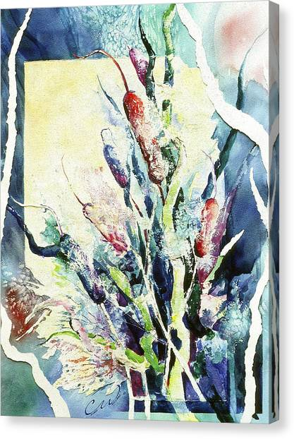 Cattails Two Canvas Print