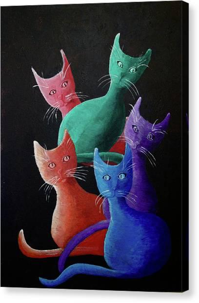Catz Catz Catz Canvas Print