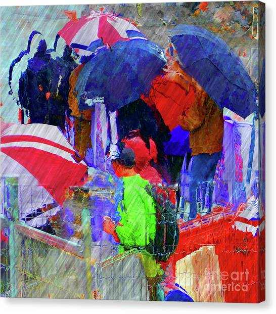 Caught In A Shower Canvas Print