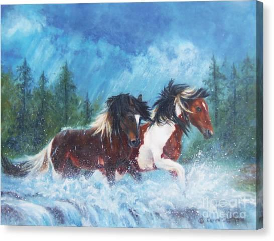 Caught In The Rain  Canvas Print
